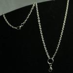 """24"""" silver rolo chain"""