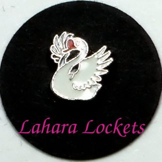 This floating charm is a white goose similar to mother goose. Compatible with all memory lockets.