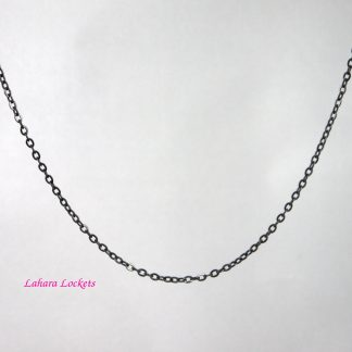 Black Oval-Link Chain