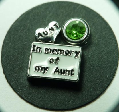 In Memory of My Aunt Floating Charms for Memory Lockets