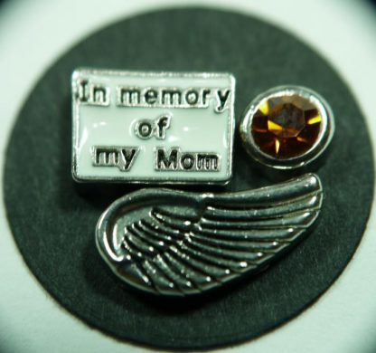 Angel Wing Floating Charm for Memory Lockets