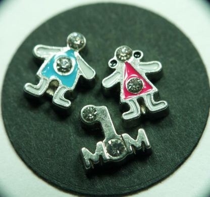 Mom Floating Charms for Memory Lockets