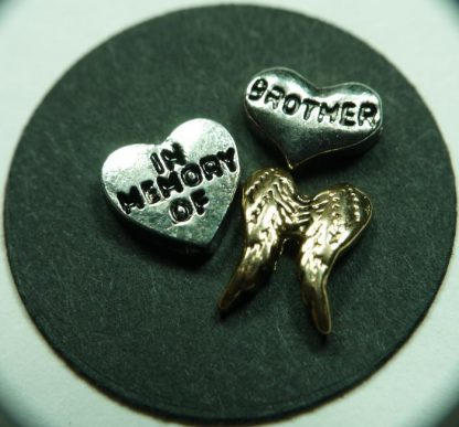 In Memory of Brother Floating Charms for Memory Lockets