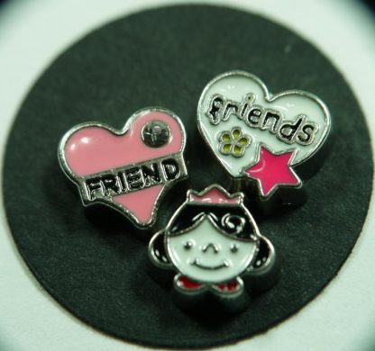 Friends and Princess Floating Charms for Memory Lockets
