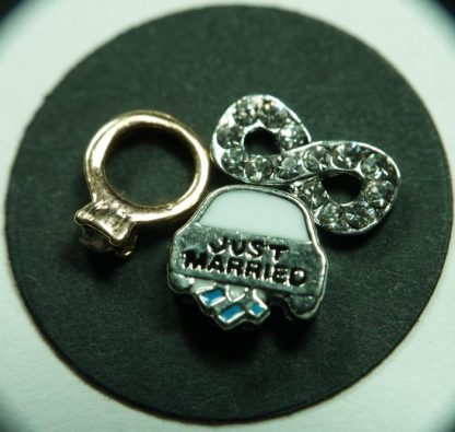 Marriage Floating Charms for Memory Lockets