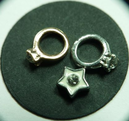 Wedding Rings Floating Charms for Memory Lockets