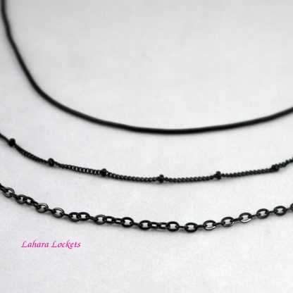 Short Black Necklace Chains