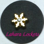 Gold Snowflake Floating Charm