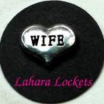 Wife Heart Floating Charm