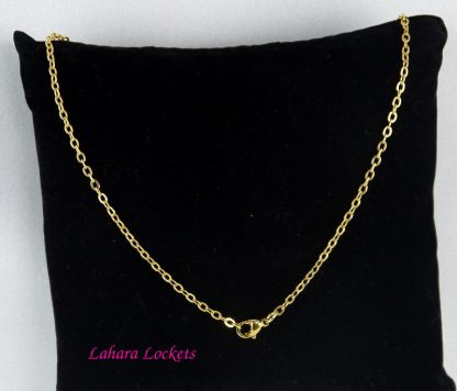 Gold Oval-Link Chain Back