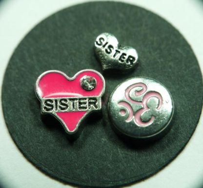 Sister Floating Charms for Memory Lockets