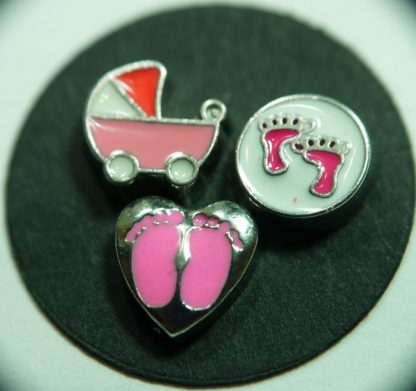 Baby Girl Floating Charms for Memory Lockets