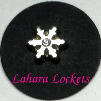 Silver Snowflake Floating Charm